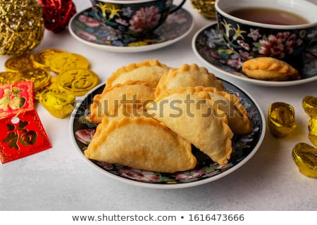 Red chinese tea cup a symbol of good fortune  Stock photo © JohnKasawa