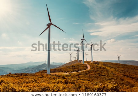 Wind turbine towers Stock photo © digitalr