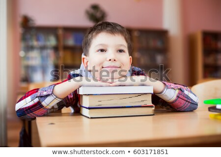 little boy sighing in a classroom Stock photo © photography33