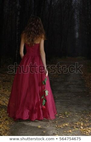 женщину темные волосы рук талия красивая женщина лице Сток-фото © chesterf