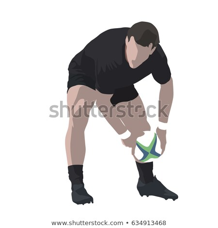 All Blacks Rugby player passing ball Stock photo © patrimonio