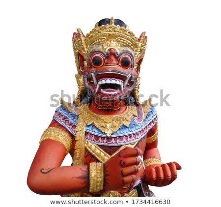 Painted Bali Dragon, Isolated Stock photo © searagen