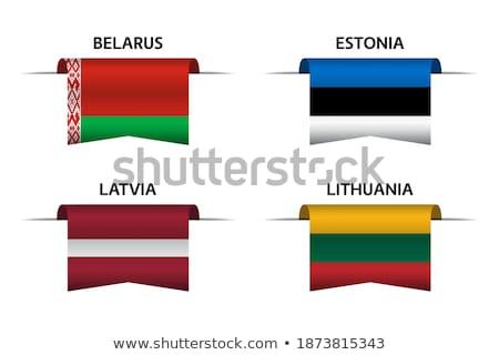 набор Кнопки Латвия красочный Сток-фото © flogel