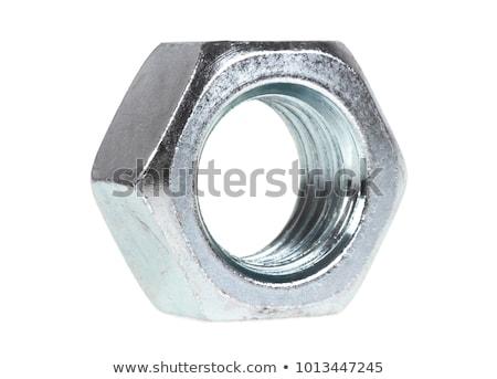 sześć · ze · stali · nierdzewnej · odizolowany · biały · metal · przemysłu - zdjęcia stock © pxhidalgo