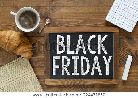 black friday on blackboard banner stock photo © marinini