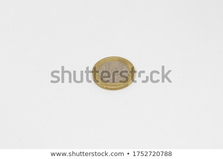 grungy 1 euro coin on white background stock photo © kirill_m