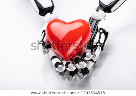 robot · kalp · çekicilik · 3d · render · sevmek · adam - stok fotoğraf © kirill_m