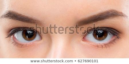 Młoda kobieta kontakt z oczami portret atrakcyjny biały Zdjęcia stock © milsiart