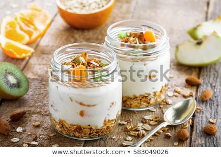 Muesli naranja alimentos dieta cereales fondo blanco Foto stock © M-studio