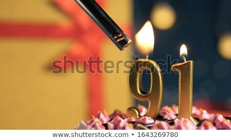 Burning birthday candles number 91 Stock photo © Zerbor