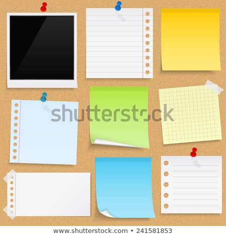 pinboard notes background Stock photo © ongap