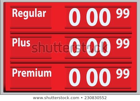 Stock fotó: Felirat · benzin · árak · benzinkút · égbolt · utazás