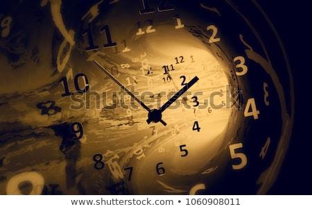 аннотация часы стены дизайна время черный Сток-фото © badmanproduction