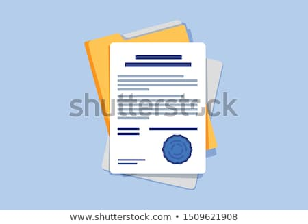 vector folder with documents stock photo © blotty
