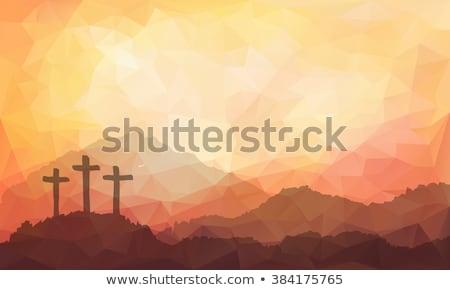 Jó kereszt színes terv illusztráció Jézus Stock fotó © bharat