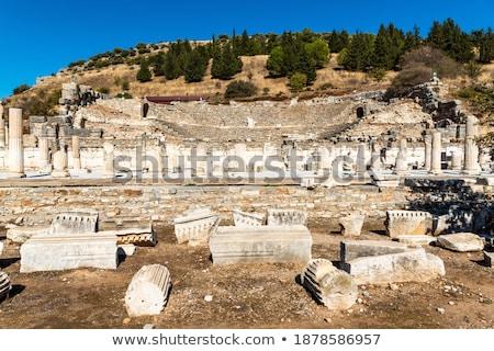 ősi · romok · Törökország · színház · könyvtár · építészet - stock fotó © mikko