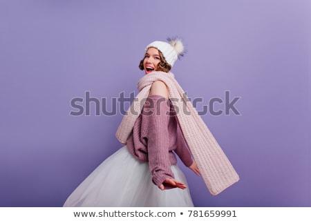 美しい 小さな ブルネット 女性 短い スカート ストックフォト © Nejron