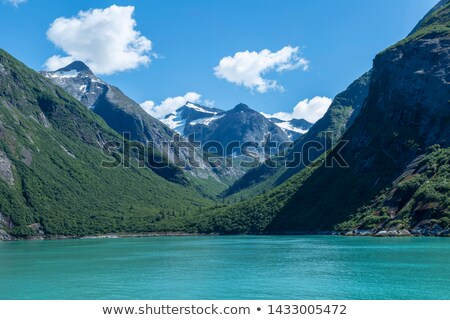 icebergue · flutuante · braço · água · paisagem · neve - foto stock © bobkeenan