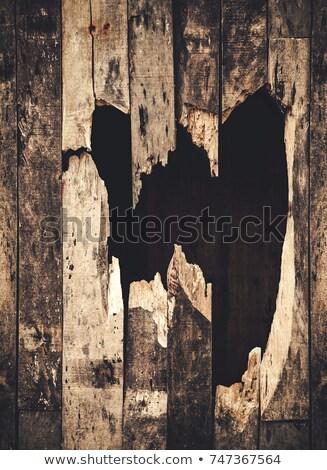 Delik ahşap duvar doku arka plan bağbozumu Stok fotoğraf © SSilver