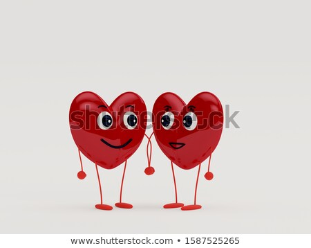 Smiling couple holding each others hands Stock photo © stryjek