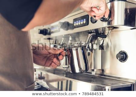 barista · süt · kahvehane · iş · Sunucu - stok fotoğraf © punsayaporn
