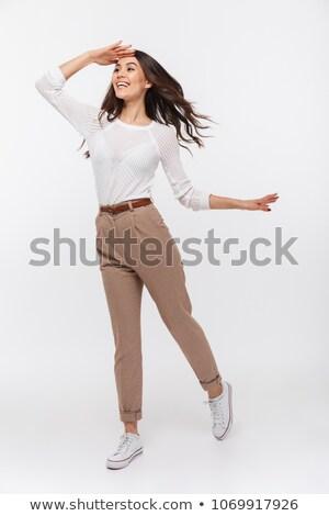 businesswoman looking far away Stock photo © elwynn