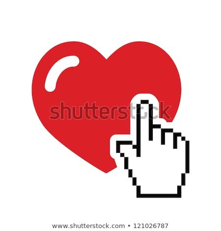 знакомства кнопки стороны курсор бизнеса сердце Сток-фото © tashatuvango