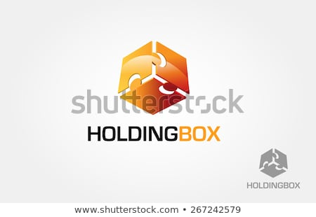 Colorful puzzle in a cube- corporate logo for business Stock photo © shawlinmohd