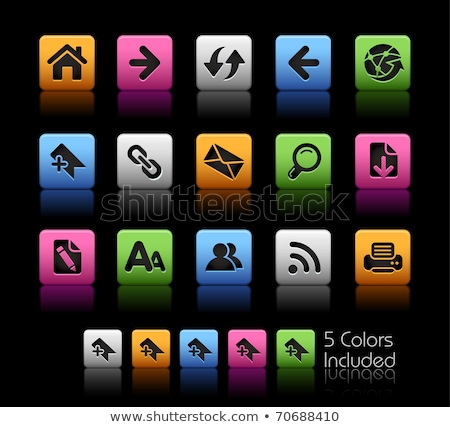 Black web buttons with different bookmarks and icons Stock photo © liliwhite