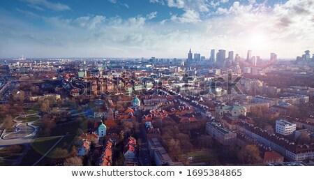 パノラマ ワルシャワ 市 夏 青 ストックフォト © filipw
