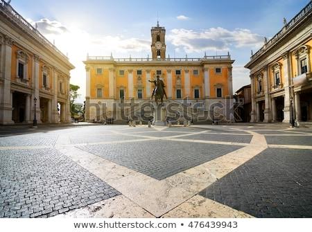 vierkante · Rome · Italië · heuvel · gebouw · straat - stockfoto © dserra1
