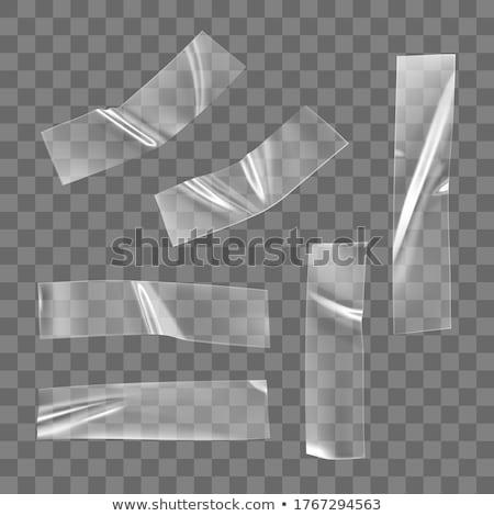 Transparant plakband licht kantoor papier achtergrond Stockfoto © designsstock