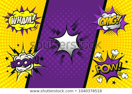 The word Pow in a Comic Book Star Stock photo © gemenacom