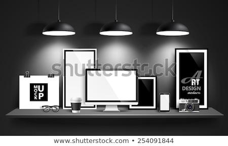 copo · café · isolado · branco · livro - foto stock © -baks-