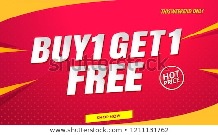 great offer yellow vector icon design stock photo © rizwanali3d