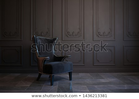 Black Chair in vintage room Stock photo © vichie81