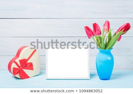 花束 黄色 チューリップ 青 フォトフレーム いい ストックフォト © mcherevan
