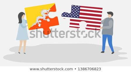USA Bhutan vlaggen puzzel vector afbeelding Stockfoto © Istanbul2009