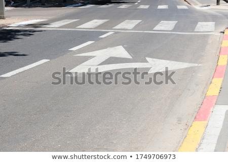 road marking arrow Stock photo © meinzahn