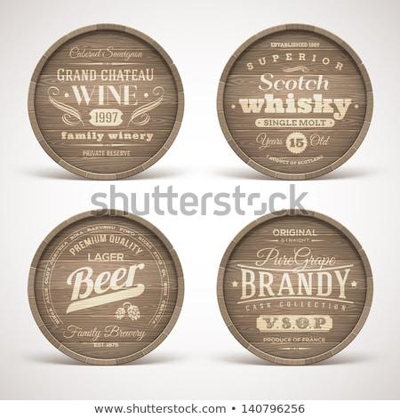 winemaking emblems stock photo © -baks-