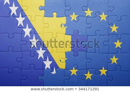 Europeo Unión Bosnia Herzegovina banderas rompecabezas vector Foto stock © Istanbul2009
