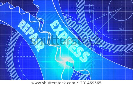 express repair Concept. Blueprint of Gears. Stock photo © tashatuvango