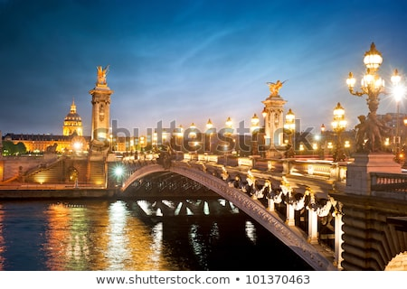 Lamppost at the Alexander III bridge in Paris Stock photo © AndreyKr
