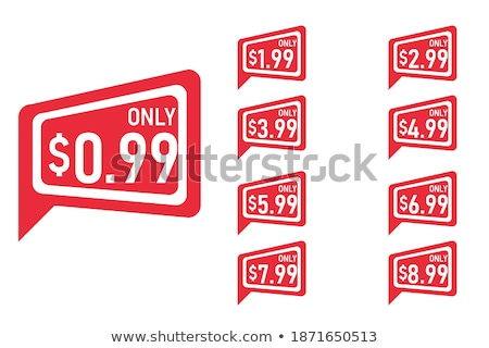 shopping sign square vector red icon design set 2 stock photo © rizwanali3d