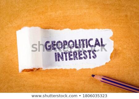 Import papír szó felirat ipar irat Stock fotó © fuzzbones0