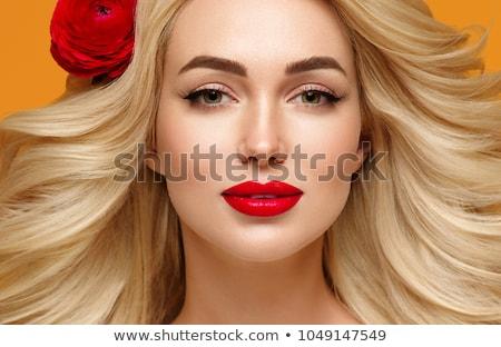 Portrait of blonde woman with perfect summer makeup. Stock photo © PawelSierakowski