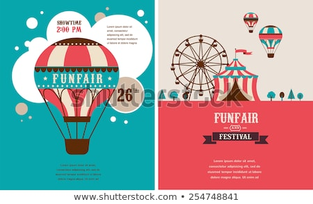 vintage poster with carnival fun fair circus vector background stock photo © marish