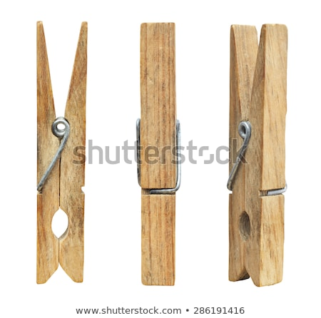clothes pins isolated Stock photo © ozaiachin