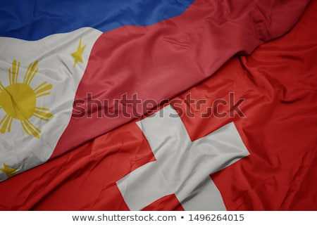Switzerland and Philippines Flags Stock photo © Istanbul2009