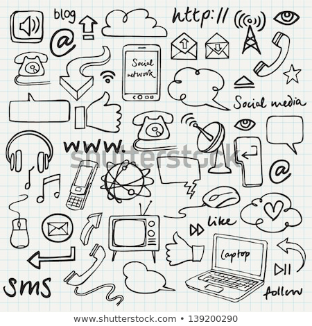 Doodle Telephone icon.  Stock photo © pakete